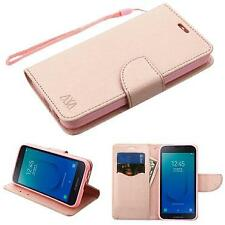 Diary Leather Wallet Stand Case for Samsung Galaxy J2 - Rose Gold