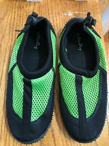 Water Shoes Boys New Star Bay Size 3 Black/Green