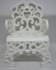 """MY LITTLE PONY G1 Paradise Estate Chair Patio White Scroll Free US Ship 4"""" '85"""