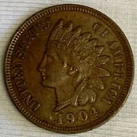 1904 Indian Head Cent Penny Lightly Circulated (k199)