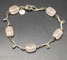 Tiffany & Co. Authentic Sterling Silver & Rose Quartz Bracelet