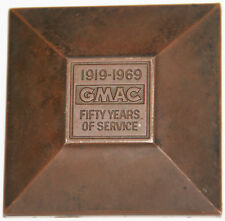 VINTAGE 1919 - 1969 GMAC 50 YEARS OF SERVCE BRASS PAPERWEIGHT