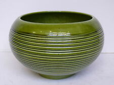 Vintage Jenkins California USA Ceramics Pottery Green Ceramic Bowl Pot Planter