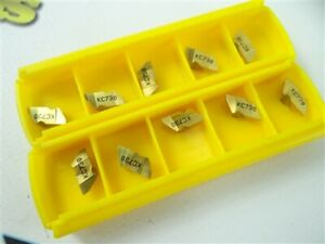 10 NEW KENNAMETAL INDEXABLE CARBIDE TOP NOTCH INSERTS NG2062R KC730