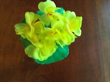 "Vintage Millinery Flower Cluster 1"" blooms Yellow Trim For Hat Iyc"