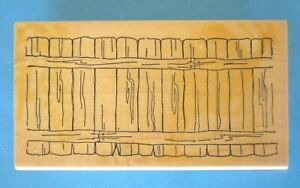 FENCE Rubber Stamp ART IMPRESSIONS Scenery - Use with Back to Front Stamps
