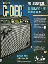 The 2005 Fender G-DEC guitar amp ad 8 x 11 amplifier advertisement print