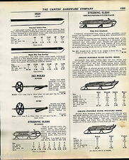 1939 ADVERT Lund Snow Skis Airline Flexible Flyer Eagle Sled Racing Model Pilot