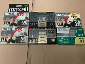 LOT 6 Maxell Cassette Tapes XLII XLII-S Metal UD New Sealed
