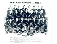1950 1951 NEW YORK RANGERS 8X10 TEAM  PHOTO  HOCKEY NHL USA HOF