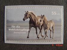 """BRD 2635 Postfrisch a. Folienstreifen o.Znr. - Wohlfahrt Haustiere """"Pferde"""" 2007"""