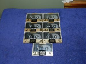 Lot of 7 Sealed Cassettes Maxell XL II 90 Type II All NOS