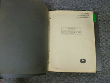John Deere 1010 Series Tractor Parts Catalog Manual Row Crop Row Orchard Pc749