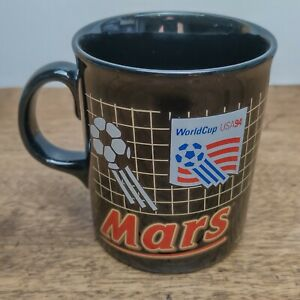 Vintage Mars World Cup USA 94 Black Coffee Mug Cup Cadburys Tams VGC