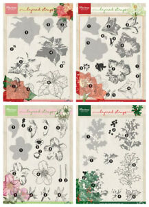 Marianne Design A5 Layered Clear Stamps - Winter Flowers - Christmas - NEW IN