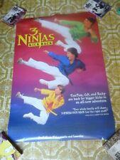 3 Ninjas Kick Back Poster Video Store Nice Promotional From 1994 Ninja Boys