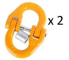 (2 Pack) 8mm Chain Link Connector Hammerlock Joiner 4X4 Chain Link Coupler