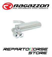 RAGAZZON SCARICO POSTERIORE SPORTIVO INOX TERMINALI TONDI 2x80 MM  50.0094.26