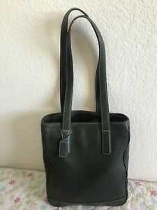 AUTHENTIC COACH GREEN FOREST GREEN LEATHER TOTE BAG PURSE