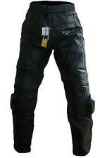 PANTALON MOTO EN CUIR S M L XL 2XL 3XL NEUF avec les PROTECTIONS Genou et slider