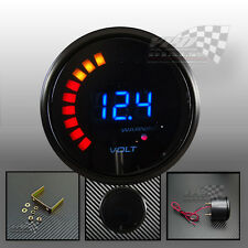 LED volt gauge 22 / 52mm universal interior dash panel pod custom car