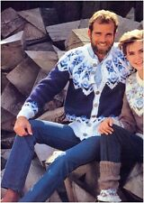 Hishers trama grossa Scandinavian Fair Isle Giogo giacche e Scaldamuscoli Knitting Pattern