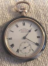 Antique Swiss Zenith Pocket Watch With Agate Case Favre-Leuba & Co