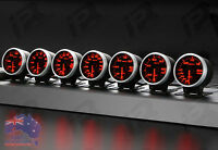 3x Link Meter BF DEFI STYLE GAUGE 60mm RED/WHITE Universal Fitment Kit