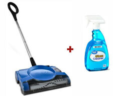 Rechargeable Floor Carpet Sweeper Ultra Lightweight w/ FREE Glass Cleaner 32 oz.