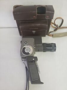 Vintage Canon Zoom 8 MM Camera With C-8 Trigger Grip With Original Case