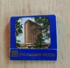 Vintage Matchbook Melbourne Hilton Australia Australian Cliveden Clarendon MCG