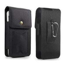 Vertical Cell Phones Pouch Belt Clip Holster w/ Card Holder for Samsung S8+ S9+