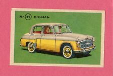 Hillman Vintage 1950s Car Collector Card from Sweden