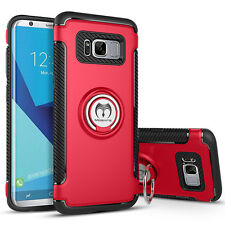 For Samsung Galaxy Note 8/S8 Plus Ring Stand Holder Shockproof Rugged Case Cover