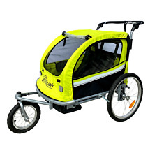Booyah Stroller Baby Bike Bicycle Trailer and Stroller Jogger - Bright Green