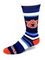 For Bare Feet Auburn Tigers Rainbow Stripe Crew Socks