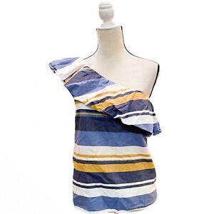 Tommy Hilfiger Womens St Tropez Blue Printed Daytime Blouse Top XXL BHFO 2649