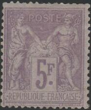 "FRANCE STAMP TIMBRE N° 95 "" SAGE 5F VIOLET SUR LILAS 1877 "" NEUF x A VOIR J883"