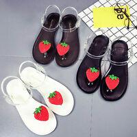 Boho Women Summer Fruit Flip Flops Sandals Shoes Beach Strawberry Low Heel Shoes