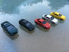 5xN Gauge 1:150 Scale painted Model Cars for Building Park Street Layout