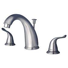 Contemporary Bathroom Widespread Vanity Sink Faucet Brushed Nickel