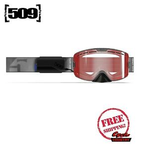509 KINGPIN IGNITE GRAY OPS SNOWMOBILE GOGGLE HEATED LT ROSE TINT
