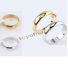 Hombre Mujer De Acero Inoxidable brillante espejo pulido anillo de bodas de