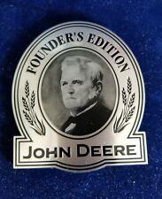 """John Deere """"FOUNDER'S EDITION"""" plaque decal ;4 1/4""""T X 3 1/2""""W(WIDEST POINTS)"""