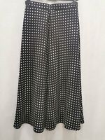 Jaeger vintage maxi skirt black and white size 10-12 polyester