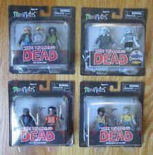 The Walking Dead MiniMates Carol, Pole Zombie, Tyrese, Michonne, Morgan, Zombie