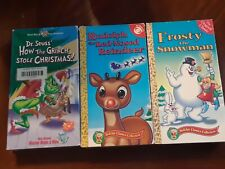 Rudolph Red Nosed Rendeer, Frosty the Snowman, How the Grinch Stole Chrstmas VHS