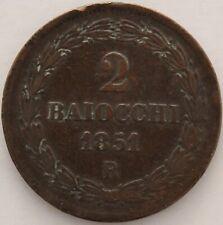 ITALIE ETATS PONTIFICAUX 2 BAIOCCHI ROME 1851