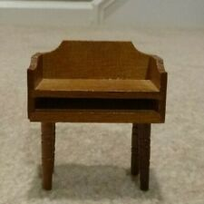 1960's Vintage Dollhouse Furniture, Wooden Telephone Table, Scale Model, 1:12