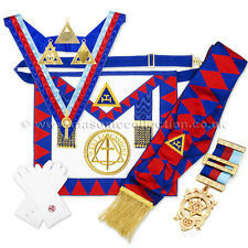 Full Regalia Pack Royal Arch Chapter Provincial Lambskin Apron / Badge,Sash RA